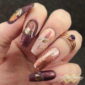 pigment und folie gestempelt nagelkunst  neil's in 2019