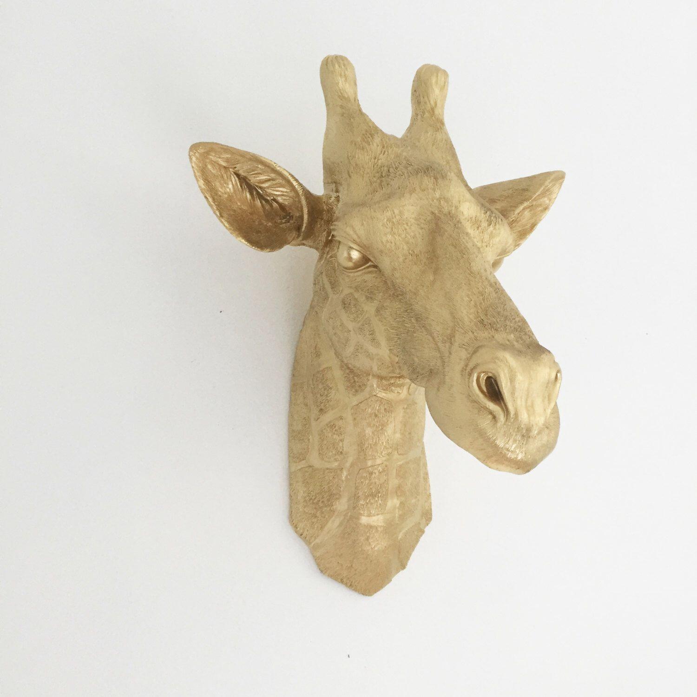 ANY COLOR XL Giraffe Head Wall Mount / Faux Taxidermy Wall Decor ...