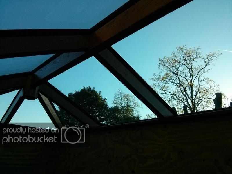 Green Oak Frame Orangerie Conservatory Very Pic Heavy Woodwork