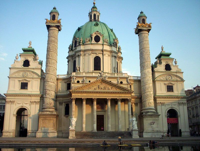 Johann Bernard Fisher von Erlach - kościół św. Karola Boromeusza w Wiedniu