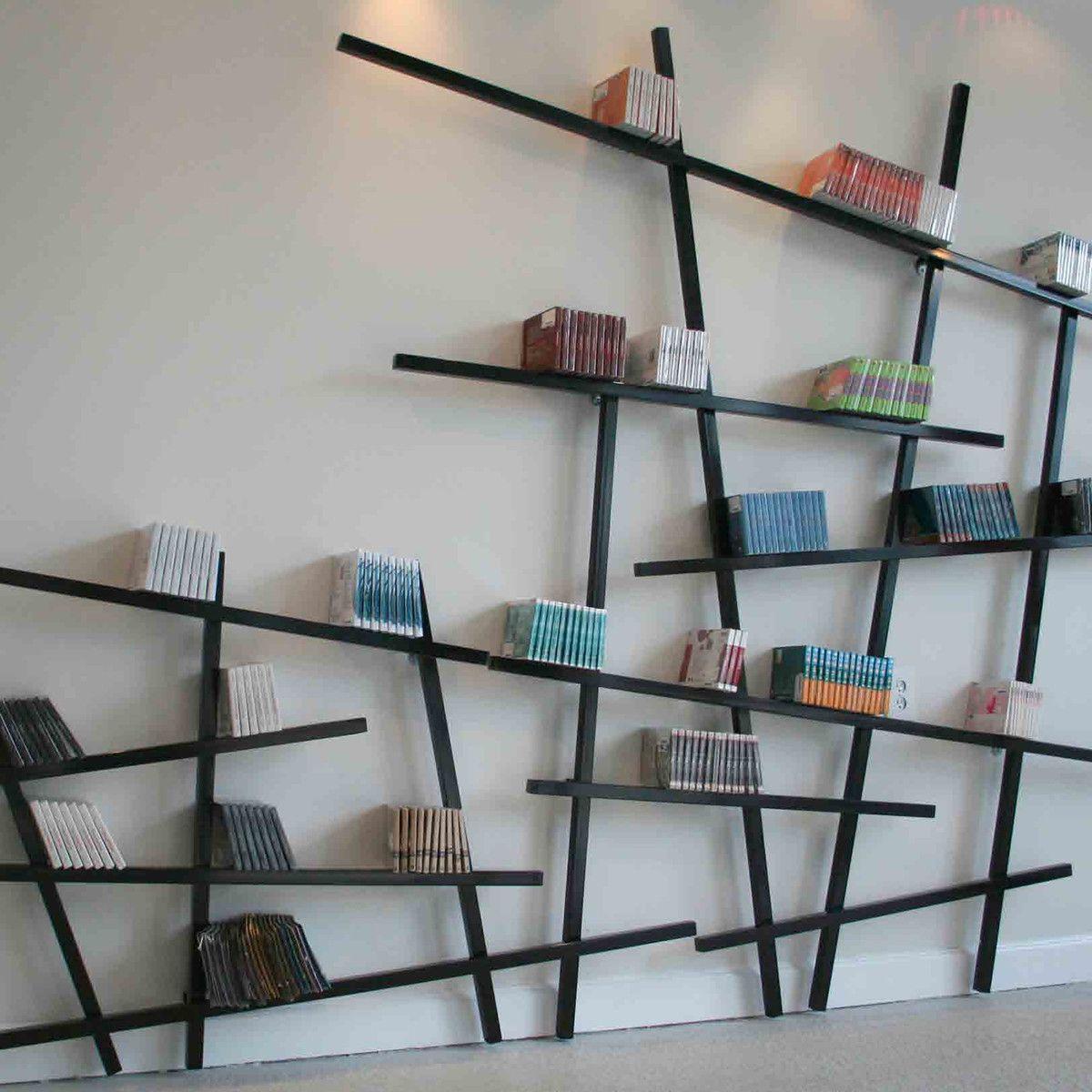 Bücherregal wand design  Edition Compagnie - Mikado Bücherregal Buchenholz, schwarz / groß ...