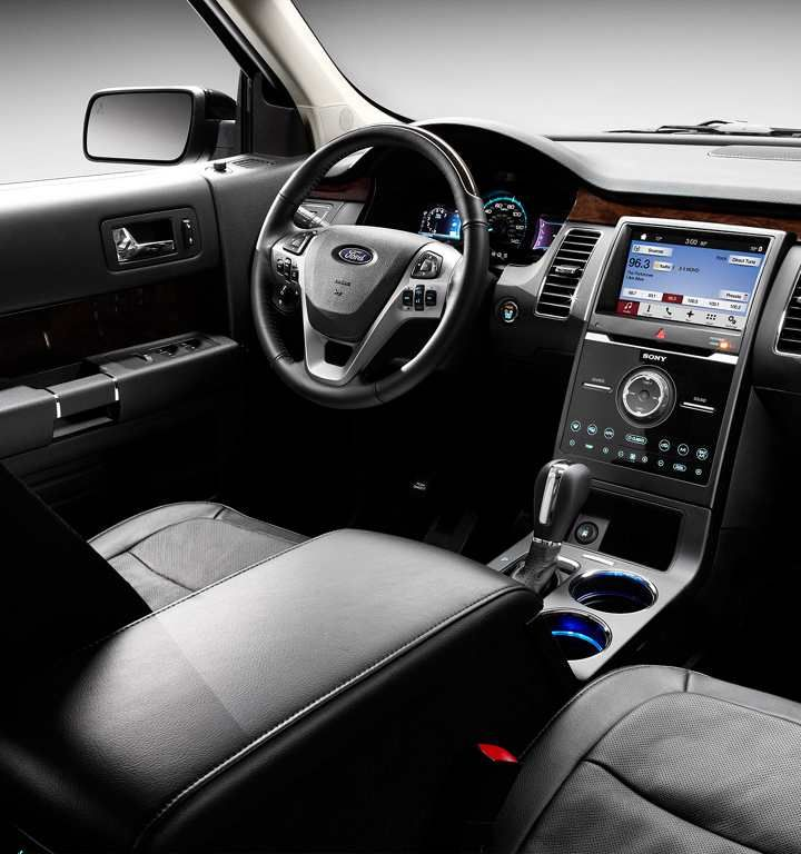 2018 Ford Flex Limited Interior In Charcoal Black With Leather