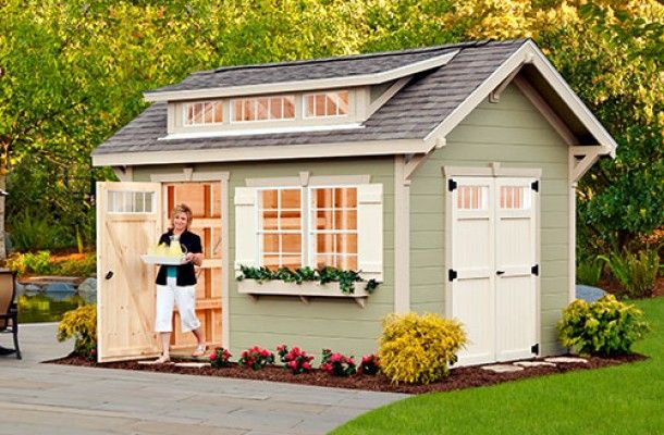 Craftsman shed options at weaver barns are some of the for Cheap barn style homes
