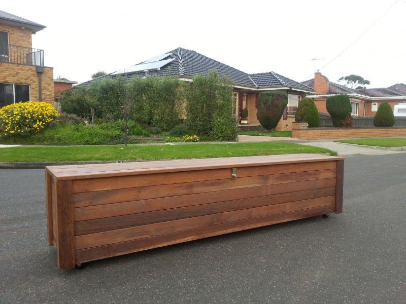 "Merbau Bench â "" Storage Box MELBOURNE"