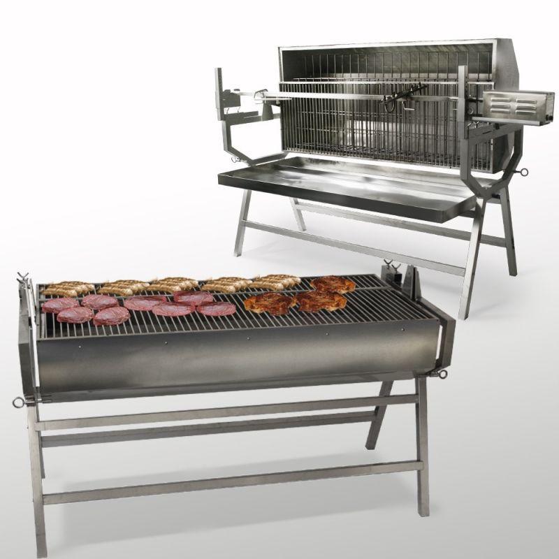 Grill barbecue / Tourne-broche méchoui Inox - #barbecue #broche #grill #mechoui #tourne - #BbqGrill