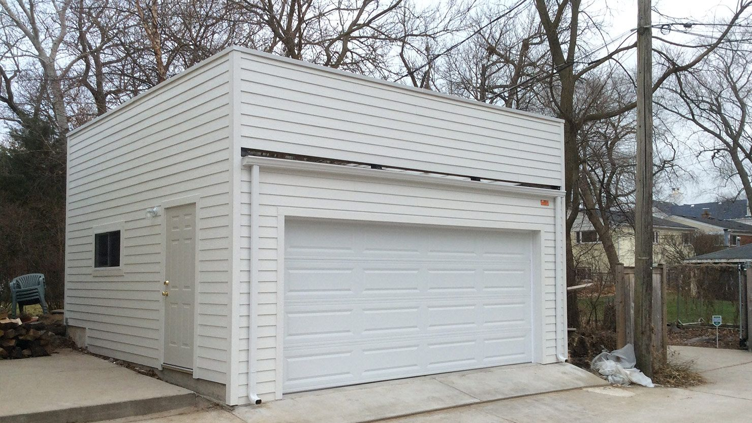 Best Flat Roof Garage 2 Story Garage Pinterest Flat Roof 640 x 480