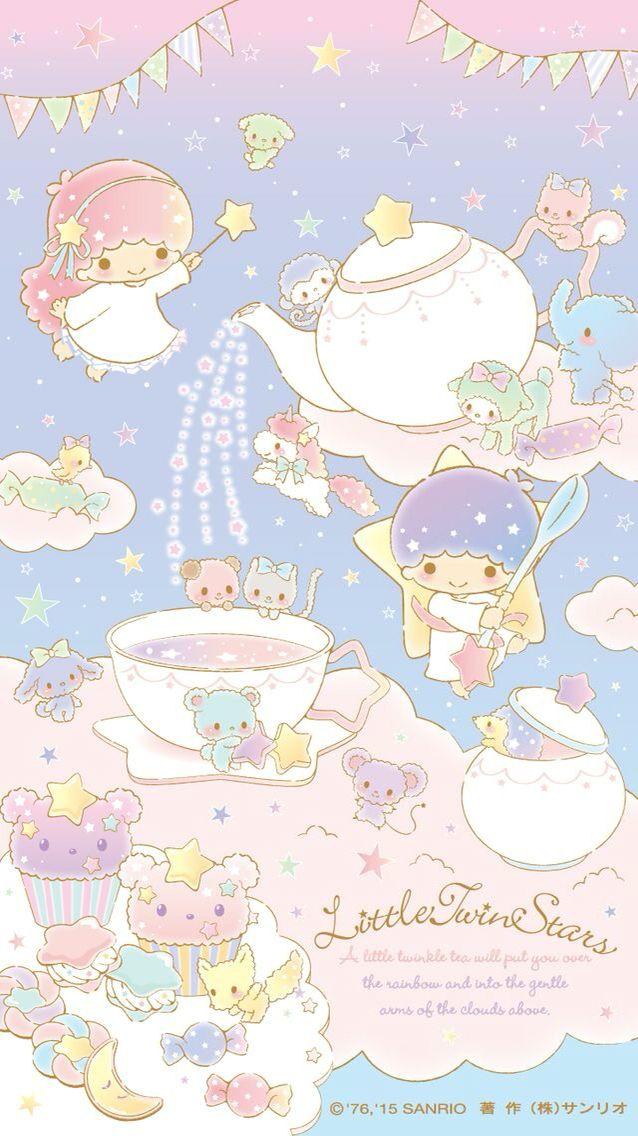 Little Twin Stars Tea Party Wallpaper