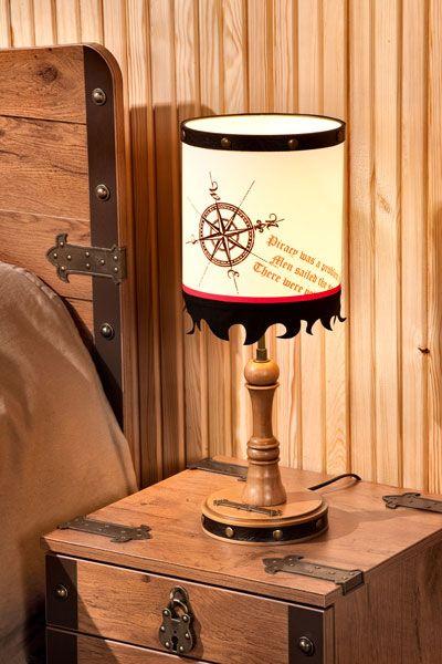 Ilek black pirate table lamp childrens room details ilek black pirate table lamp aloadofball Images