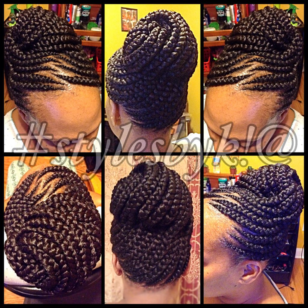 Ghana Braid Updo On Natural Hair Hair Styles Braided Hairstyles Natural Hair Styles