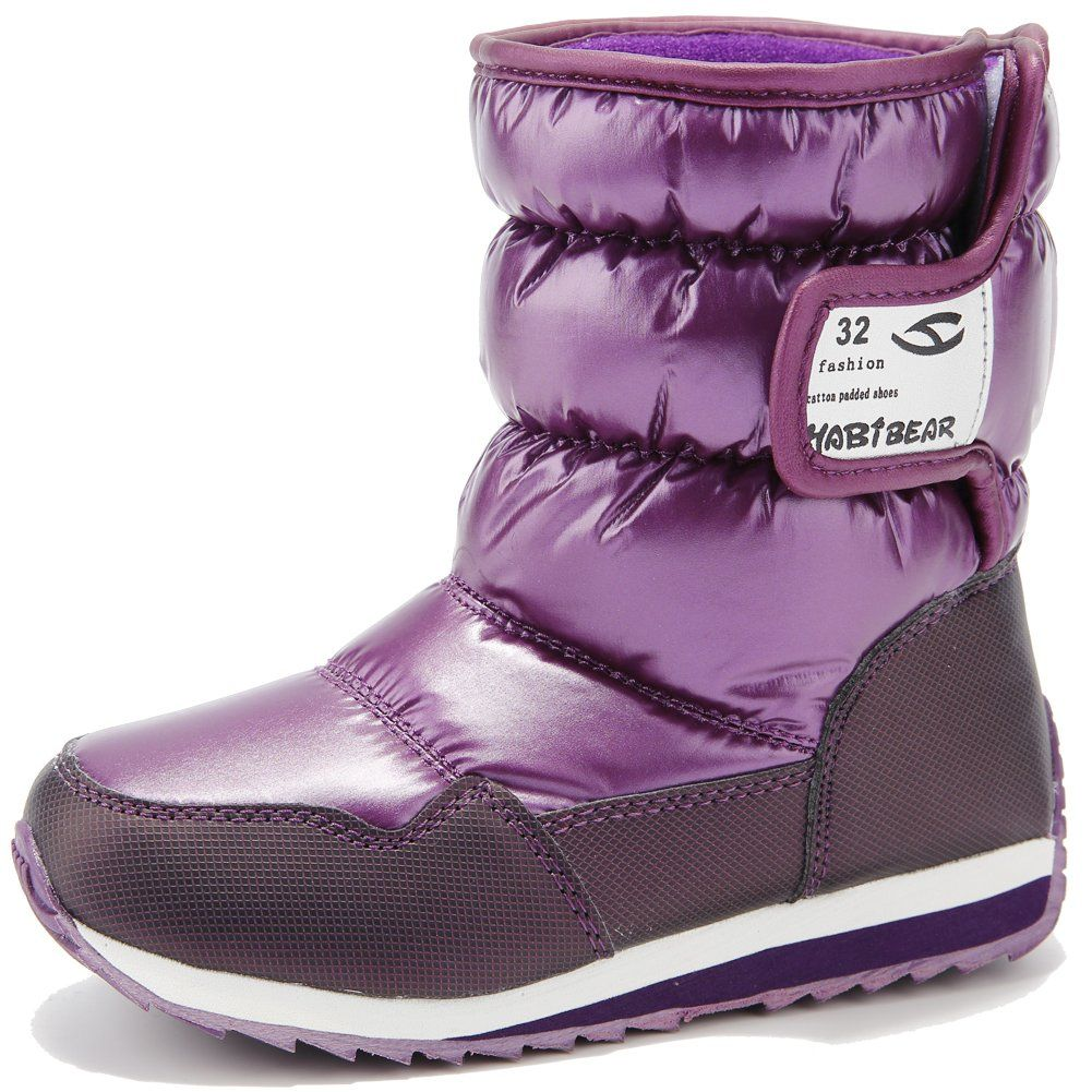 HOBIBEAR Kids Winter Snow Boots