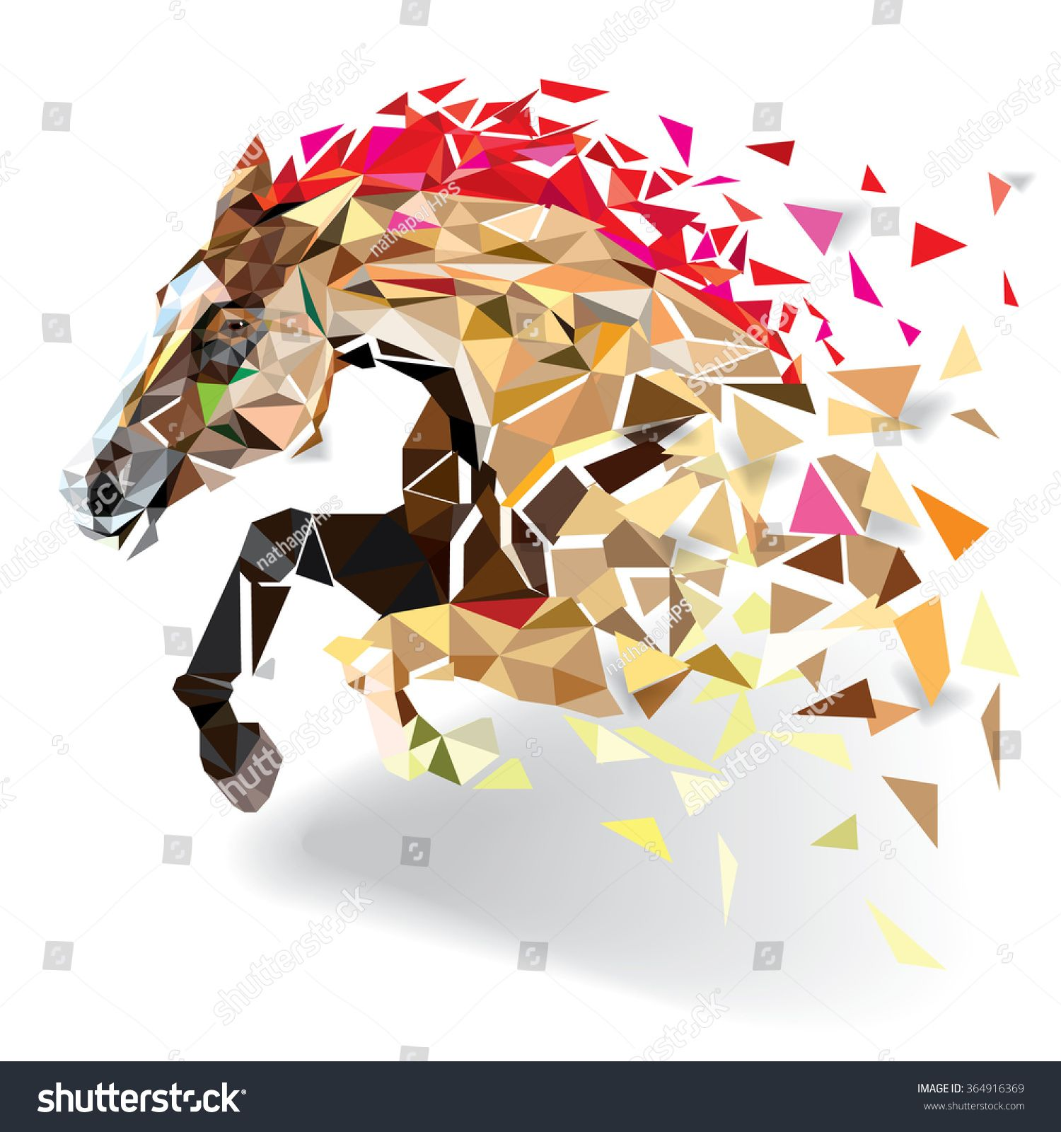 Stock Vector Horse In Geometric Pattern Style Vector Eps