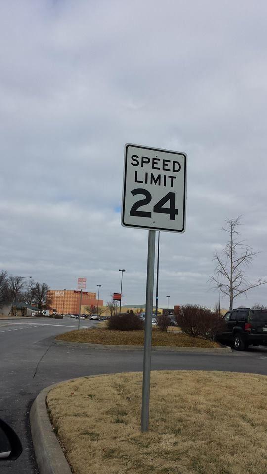 Speed limit sign in Nashville,TN  #24 | Jeff Gordon | Jeff