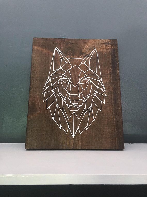 Geometrische Wolf Holz Wandkunst  Wolf Wall Decor  minimalistisch  modern  The dining room is always a place of enjoyment Whether the everyday Breakfast with family a rom...