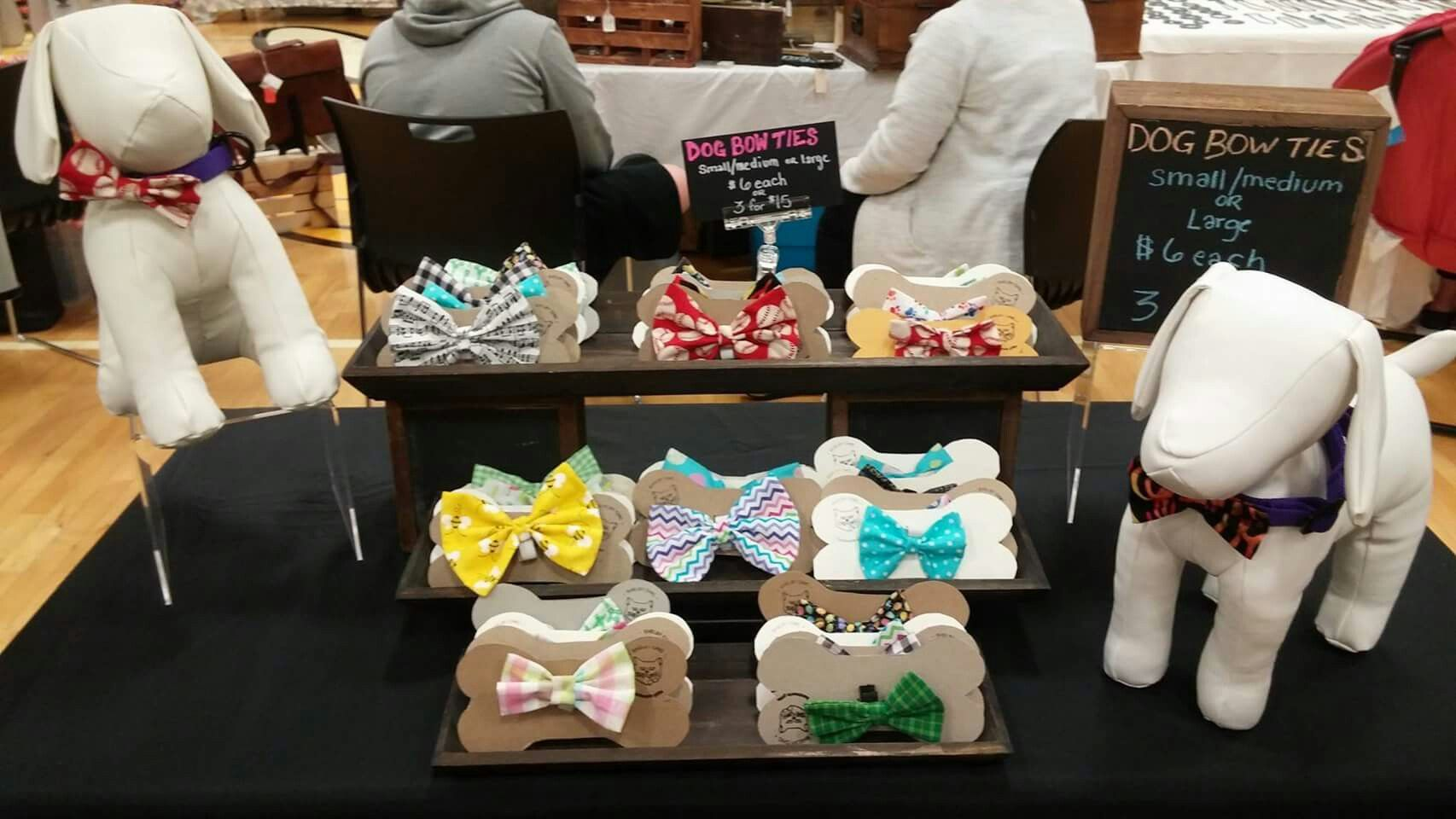Dog Bow Tie Display With Dog Mannequins Pet Store Display Dog Clothes Diy Dog Bowtie