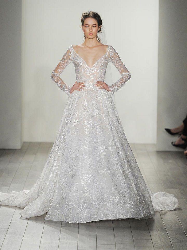 long sleeve lace wedding dress | itakeyou.co.uk #lace #laceweddingdress #weddingdresses #weddingdress #lazaro #wedinggown