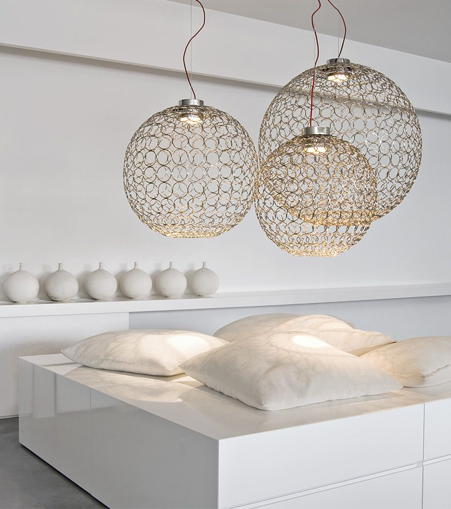 From glass metal fabric or plastic you will find at here the best designer pendant lighting  sc 1 st  Pinterest & The modern metal ring G.R.A chandelier ceiling light from Terzani ... azcodes.com