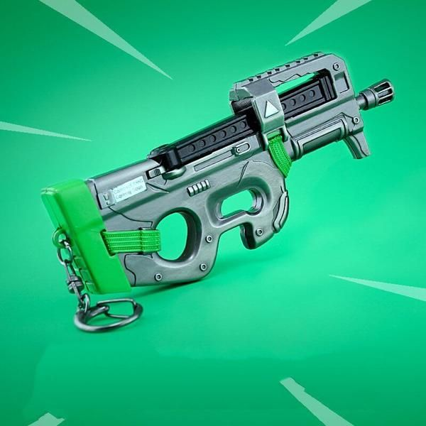 Fortnite Battle Royale Compact Smg P90 Weapon Keychain Accessory