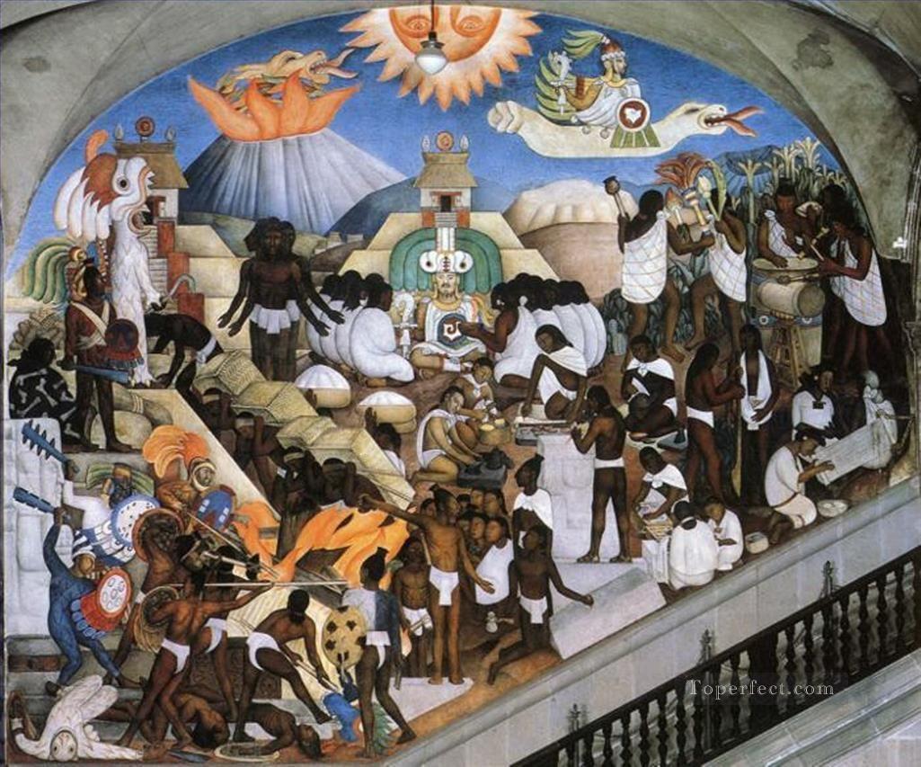Mural Mexico Prehispanico Diego Rivera