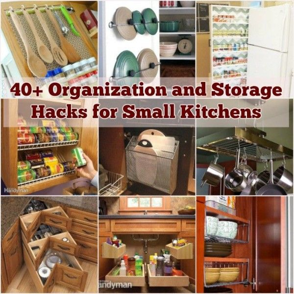 40+ Organization and Storage Hacks for Small Kitchens Storage