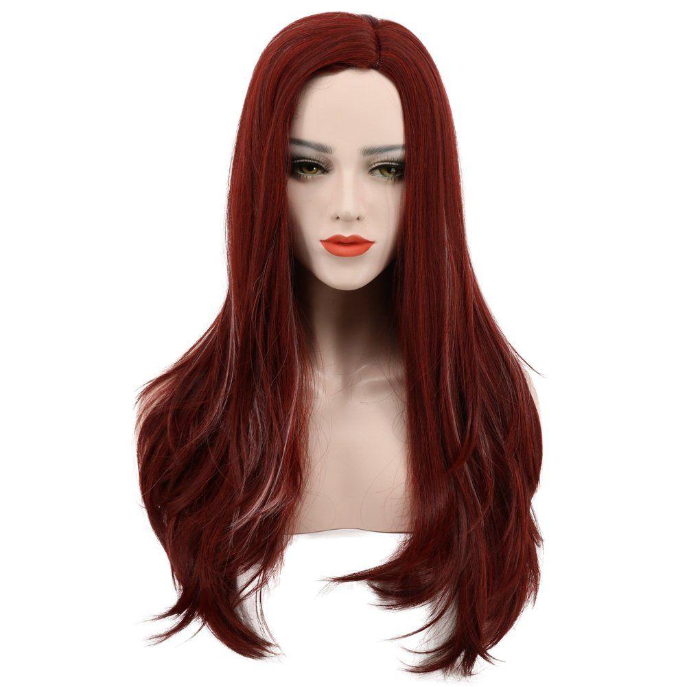 fb55538ce510c2 Halloween Costume Ideas >> Karlery Womens Long Wave Dark Red Wig Halloween  Cosplay Wig Costume Party Wig #diyhalloweencostumes