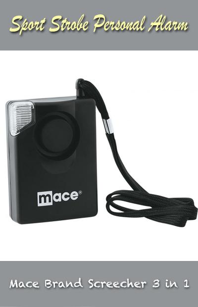 Mace Brand Screecher 3 in 1 Sport Strobe Personal Alarm