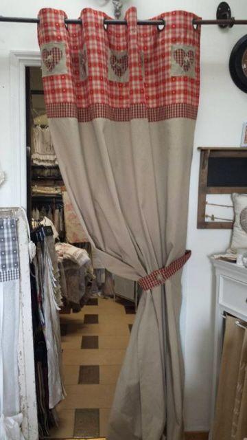 chaletrouge1 rideaux rideaux vichy