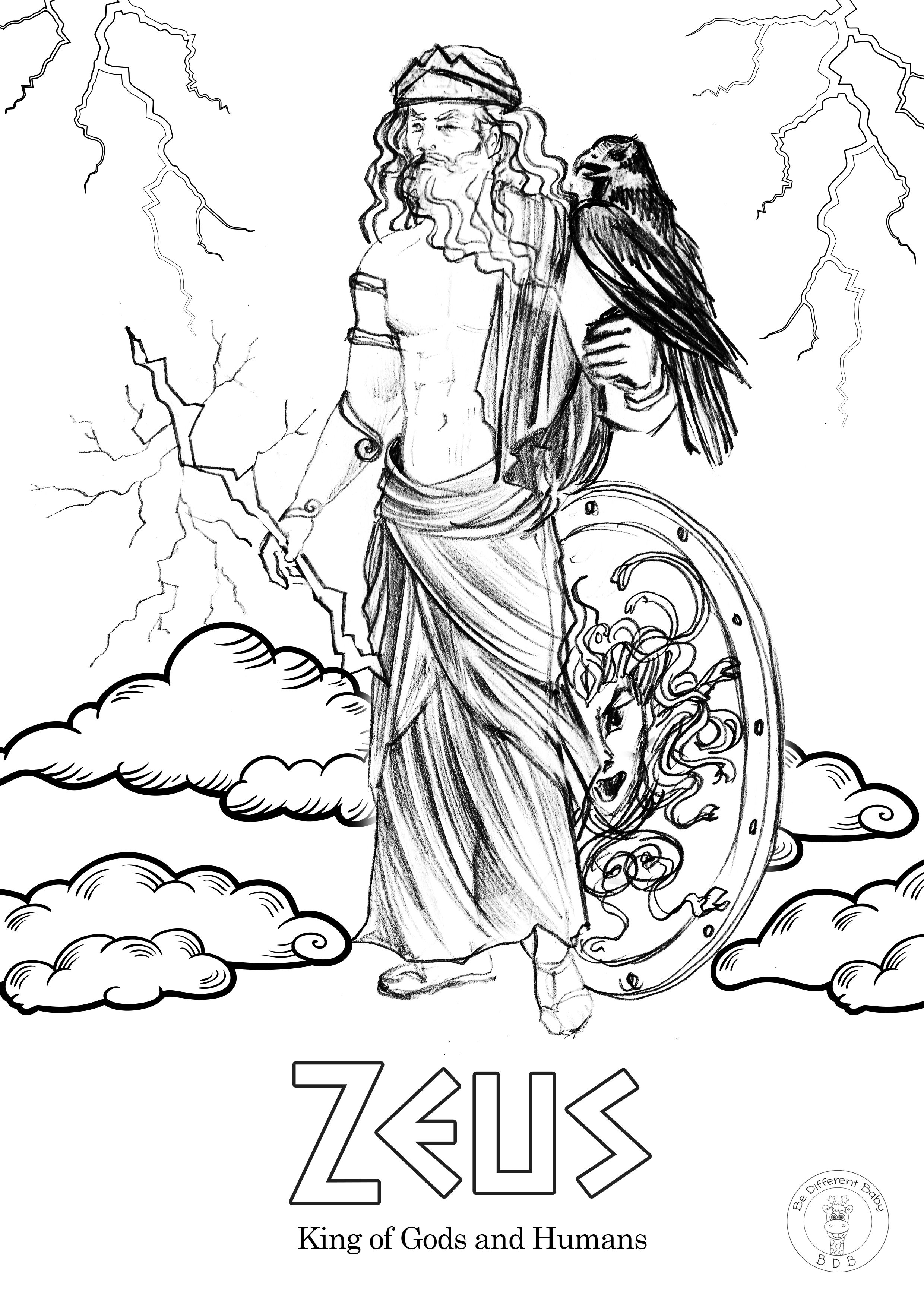 Greek Gods Coloring Pages Be Different Baby In 2020 Greek Gods God Illustrations Coloring Pages