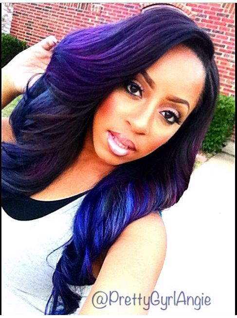 Top 13 Cute Purple Hairstyles For Black Girls This Season Hair