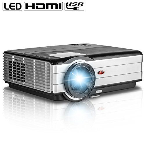 EUG X89 LED LCD Video Projector 3000 Lumens Support 1080p 720p