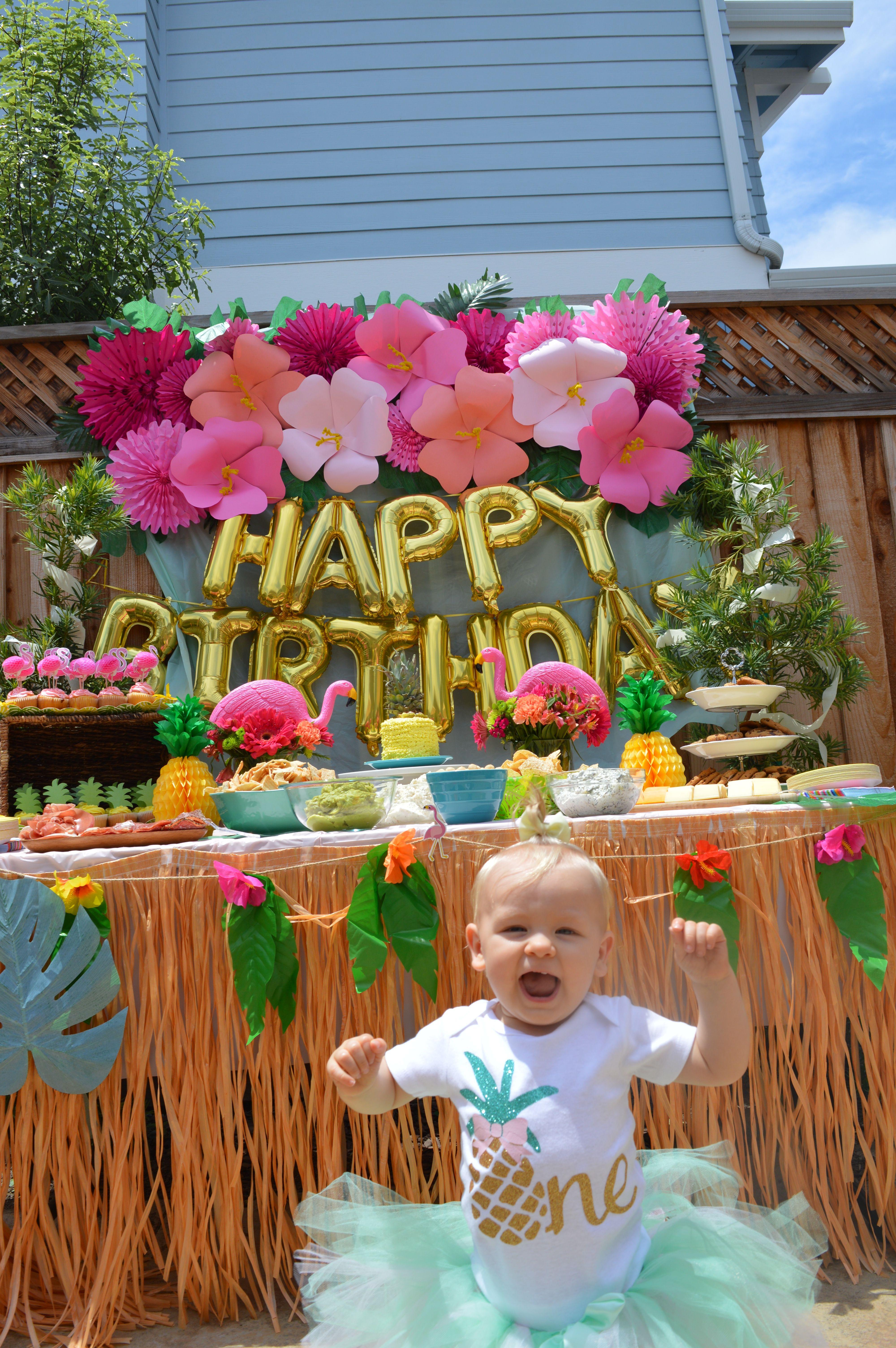 Flamingo Pineapple Party Luau Birthday Party Flamingo Birthday Party Hawaiian Birthday Party