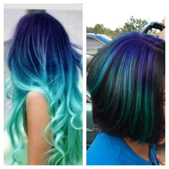 How To Dye Hair Two Different Colors Ombre Hair Color Ombre Hair Dyed Hair