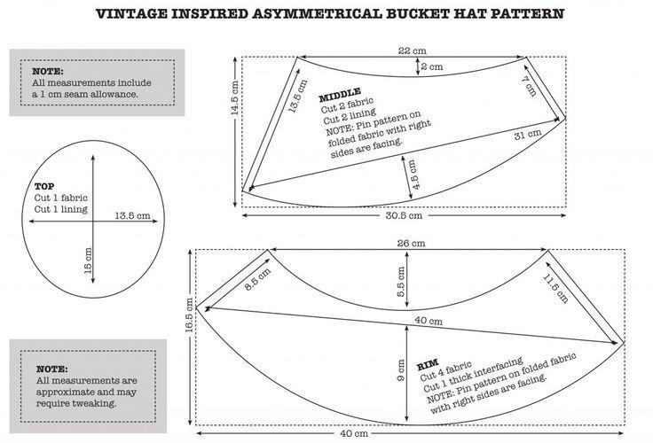 b3045657af0 vintage inspired bucket hat pattern - Google Search