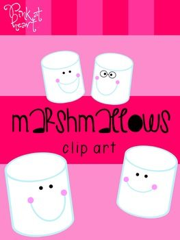 Marshmallows Clip Art FREEBIE #clipartfreebies