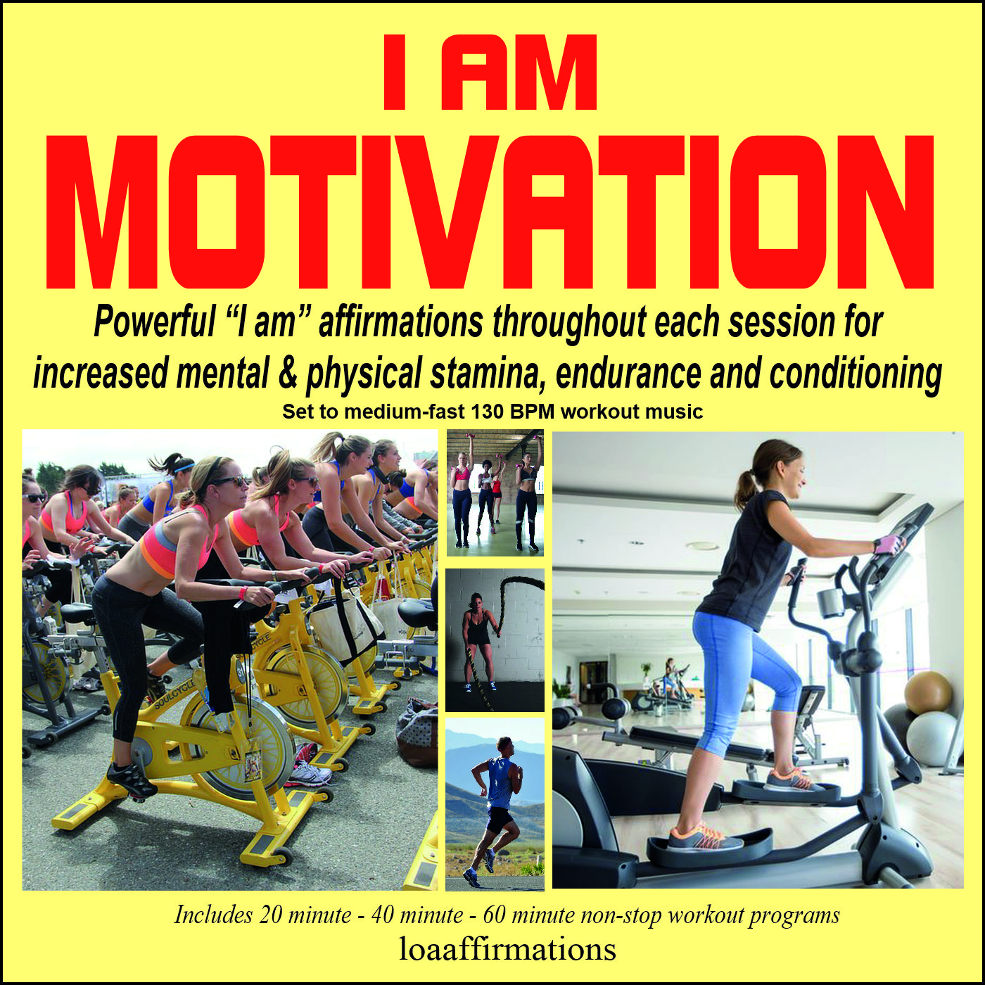 Motivating exercise & workout music with positive and