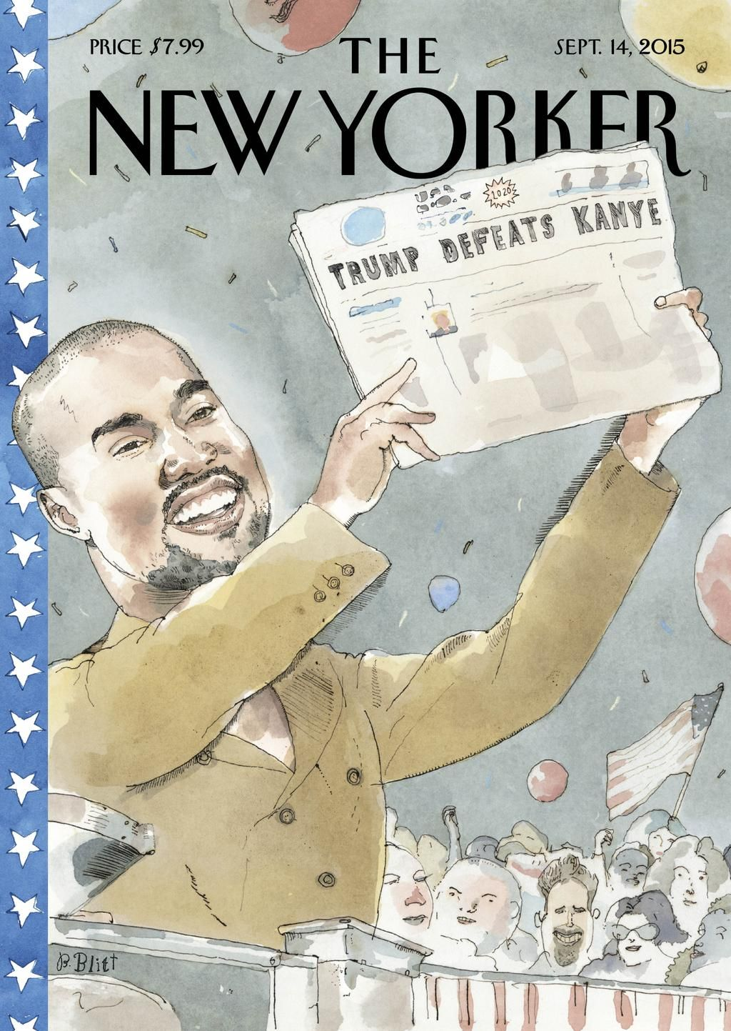 """An early look at next week's cover, """"2020 Vision,"""" by Barry Blitt: http://nyr.kr/1O1WS09"""
