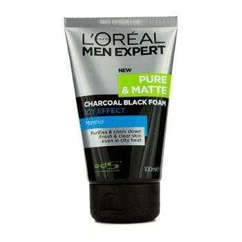 Men Expert Pure & Matte Icy Effect Charcoal Black Foam 100ml/3.4oz