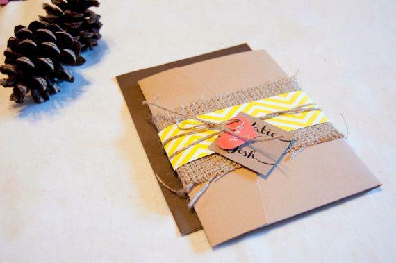 Rustic wedding invitation kraft wedding by Clairesweddingshop, $2.00