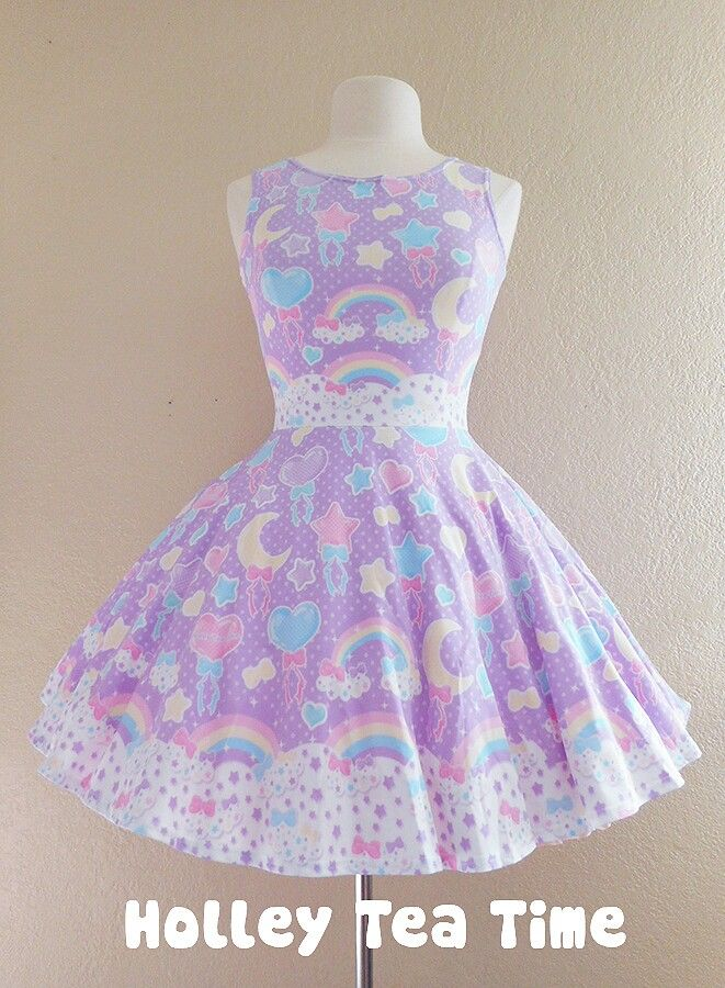 c3662b65f64 Pastel party lavender Skater Dress MADE TO ORDER from Holley Tea ...