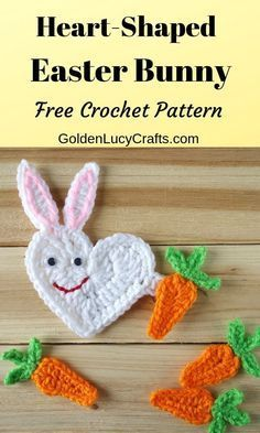 Crochet Easter Bunny, Free Crochet Pattern – GoldenLucyCrafts #eastercrochetpatterns
