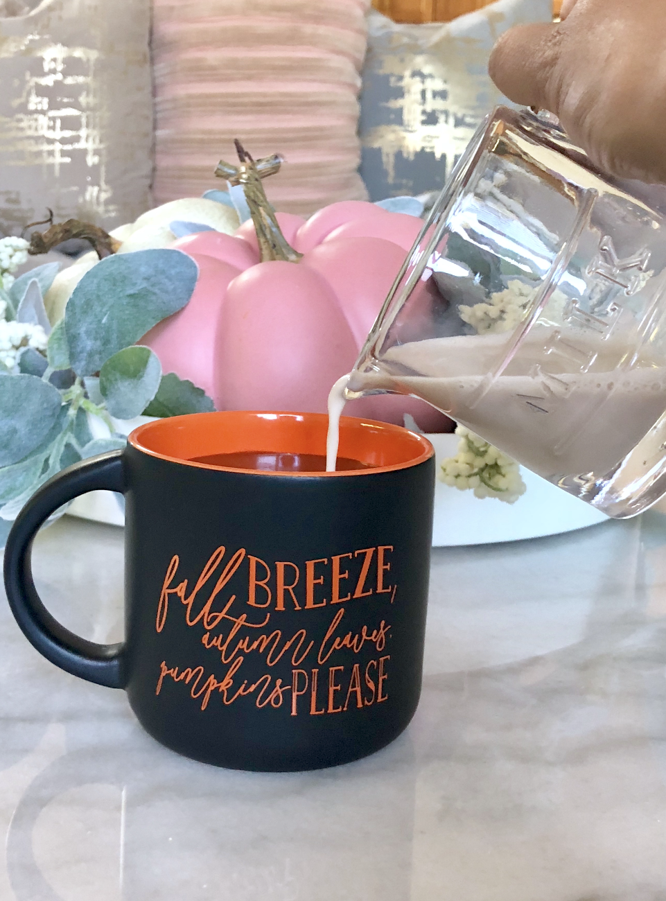 Fall Breeze, Autumn Leaves, Pumpkins Please Coffee Mug in