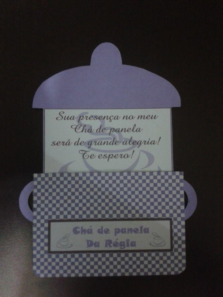 Convites Chá de Panela