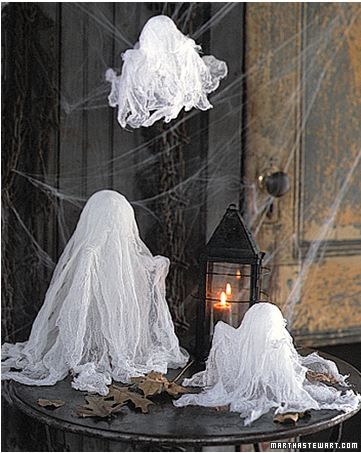 Cheesecloth ghosts cute to make Cool Crafts Pinterest - halloween ghost decor