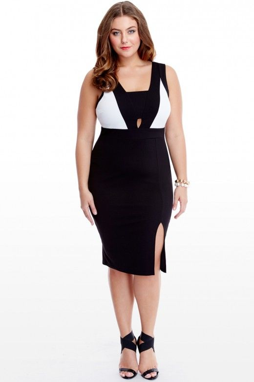 Plus Size Calista Color Block Dress   Fashion To Figure   FTF + ...