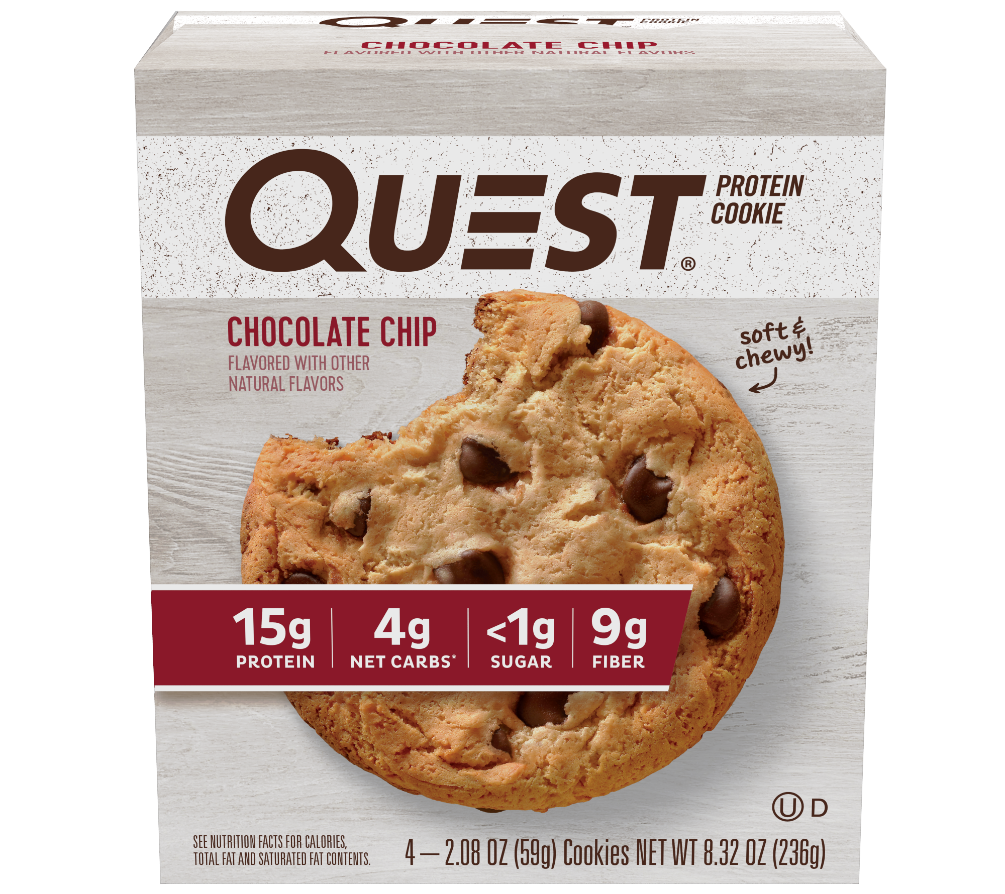 Quest Protein Cookie Chocolate Chip 15g Protein 4 Ct Walmart Com Protein Cookies Protein Cookies Chocolate Chocolate Chip