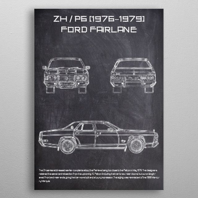 ZH P6 CHALK metal poster | Displate thumbnail