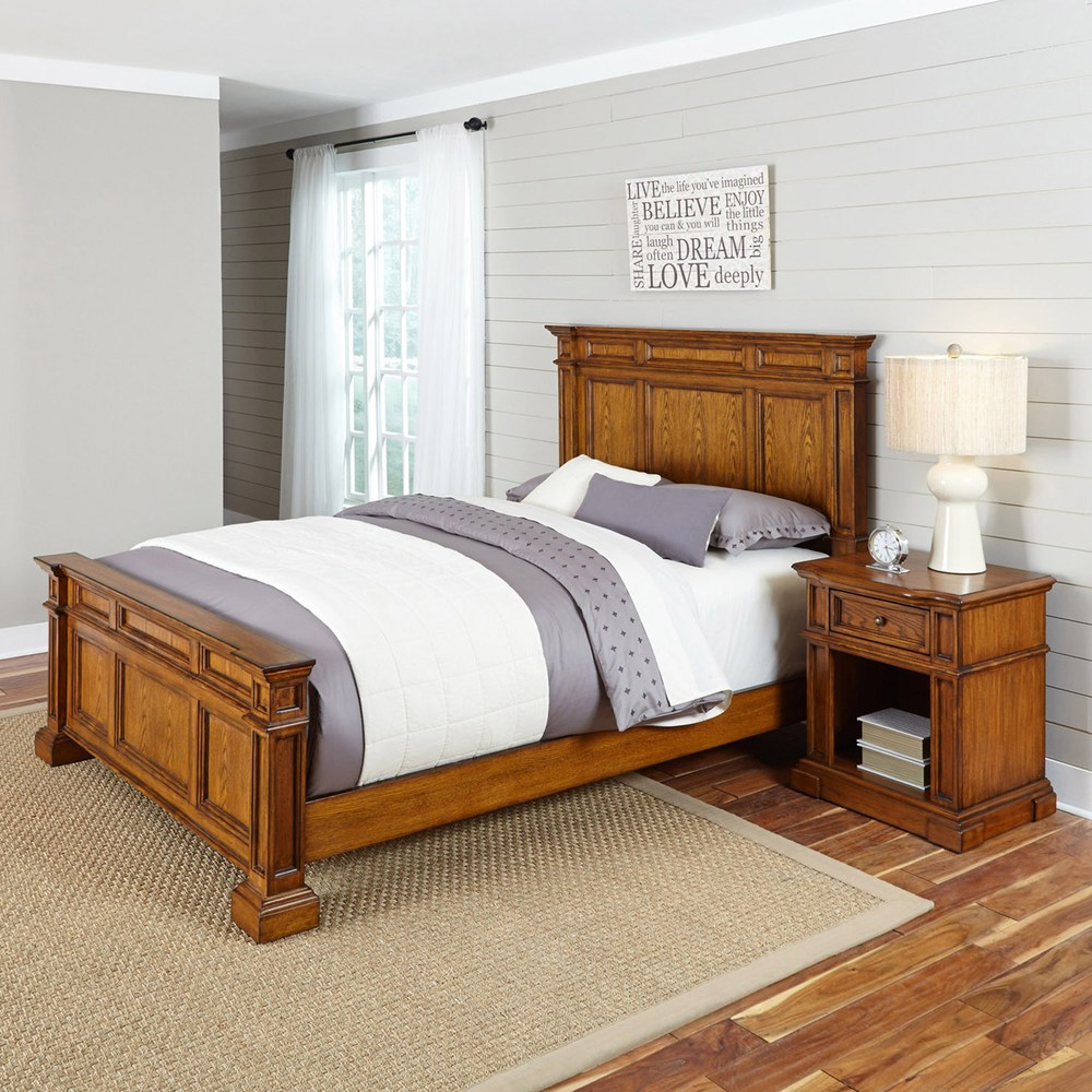 Home Styles Americana Vintage 2 Piece Bed Night Stand Set