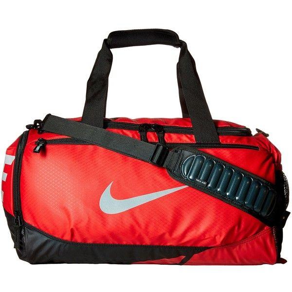 55adb7bdffb4 Nike Vapor Max Air Small Duffel (University Red Black Metallic Silver)...  ( 41) ❤ liked on Polyvore featuring men s fashion