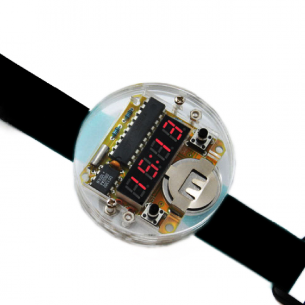 Smart Electronic Single Chip Led Watches Clock Kit Diy Digital Watch Circuit With Transparent Cover Price 1350 Free Shipping