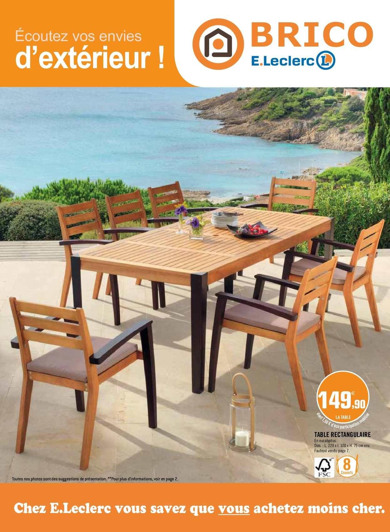 table et chaises de jardin leclerc