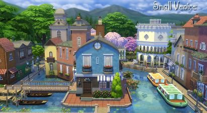Mod The Sims - Small Venice - Community Lot Sims 4 | Sims 4